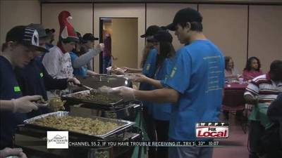 News video: Holiday Cheer at Fort Wayne Rescue Mission Serving Others